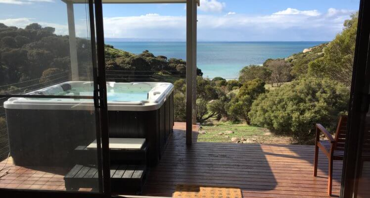 Accommodation on Kangaroo Island; luxury accommodation on Kangaroo Island; Kangaroo Island Accomodation; Deluxe Spa Villa