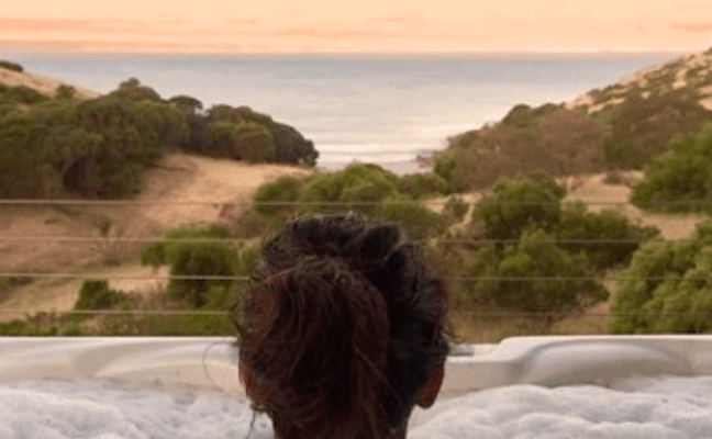 Relaxing Eco Spa bath villa; luxury Accommodation on Kangaroo Island; Luxury Kangaroo Island accomodation; Kangaroo Island getaway; Romantic Getaway; Kangaroo Island romantic getaway