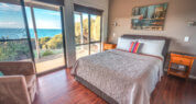 KI luxury accommodations;luxury accommodations on kangaroo island ; Sea Dragon Lodge; Eco Villa Bedroom