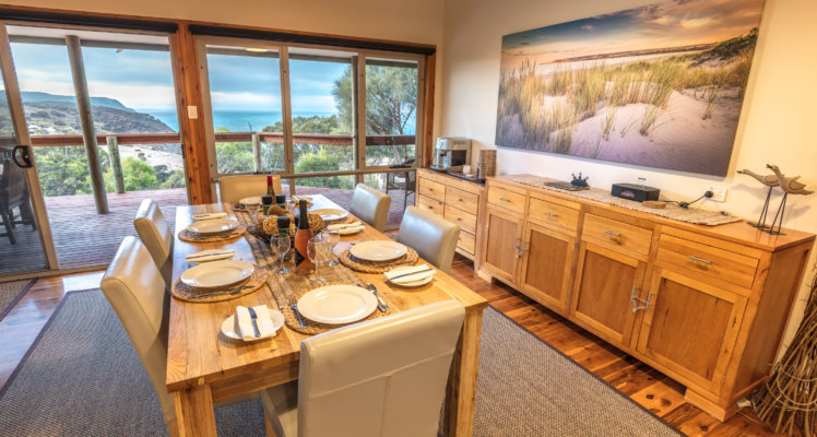 ki luxury lodge;luxury ki lodge; Lodge Dining and Views; luxury lodges on Kangaroo Island